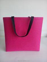 Wholesale felt tote bag recycle shopping bag