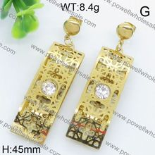 china supplierfashion wholesale silver owl drop earring jewelry summer
