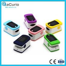 6 Color Alarm Portable Convenient Fingertip Pulse Oximeter SpO2 Blood Oxygen Saturate Heart Rate Monitor Health Care