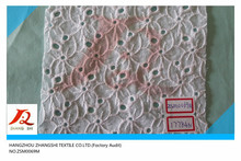 white cotton eyelet voile fabric, 2015 new arrival cotton lace