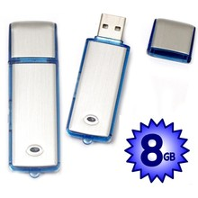 USB Digital Voice Recorder Device Plus 8Gb Flash Drive - Best Small Sound Recorder - Spy Voice Recorder For Dictations, Meetings