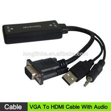 2014 nuevos productos a vga de audio hdmi cable vdeo precio, hdmi a vga convertidor de cable, hdmi a vga