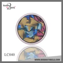 2015 Newest design korean fashion jewelry shell pendant/32mm locket coins/shine circle pendant LC040