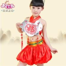 vestido de danza folclórica rendimiento disfraces niñas infantil