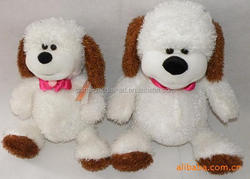 hot sale custom make soft toy white stuffed soft toy dog, EN71/SGS/CE/ROSH plush soft toy animal