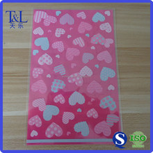 Best popular for candy shop!Cute pink plastic patterned cello bag for candy or gift packaging with one side printing