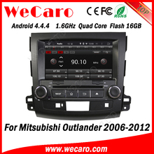 "Wecaro Android touch screen 4.4.4 in dash 8"" car radio player with gps for mitsubishi outlander android car dvd 2006 - 2012"