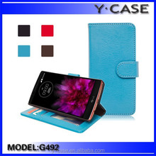 Wholesale factory new product wallet leather case with card pockets for LG G4, for LG G4 leather case