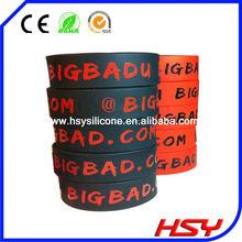 de la manera personalizada impresa pulsera de silicona para los regalos promocionales