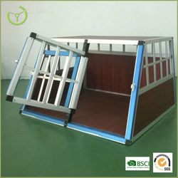 Heady duty dog cage with double doors