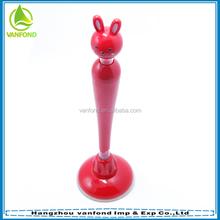 Cute cartoon rabbit shape stand pen with sucker
