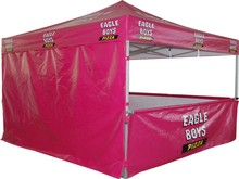 10 x 10 aluminum frame folding tent with optional side wall