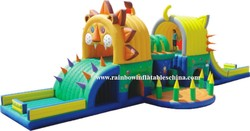 Rainbow new products hot sale giant inflatable obstacle/china inflatable obstacle