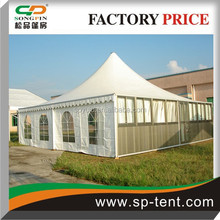 big outdoor aluminum cheap 10x10 luxury tents with linings and curtains for wedding event and meeting