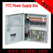 DC12V 10A 18ch CCTV central power supply box 5a for 9channels