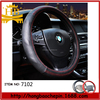 Red anti slip with holes car interior decoration leather steering wheel covers