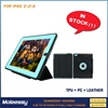 Wholesale 3 in 1 Detachable pu leather tablet cover leather for ipad 234 case