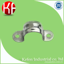 BS4568 25mm galvanized steel plain saddle with two holes &electrical conduit pipe clamp