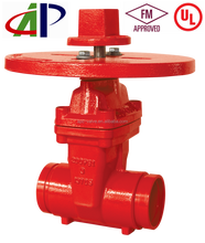fire protection 200PSI-NRS Type Grooved End Gate Valve