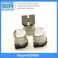 Capacitor Aluminium 330UF 6.3V 20% SMD 108mA 7000Hours 6.3x7.7mm EEE-0JA331XP 105C (best price) UT KZD Series