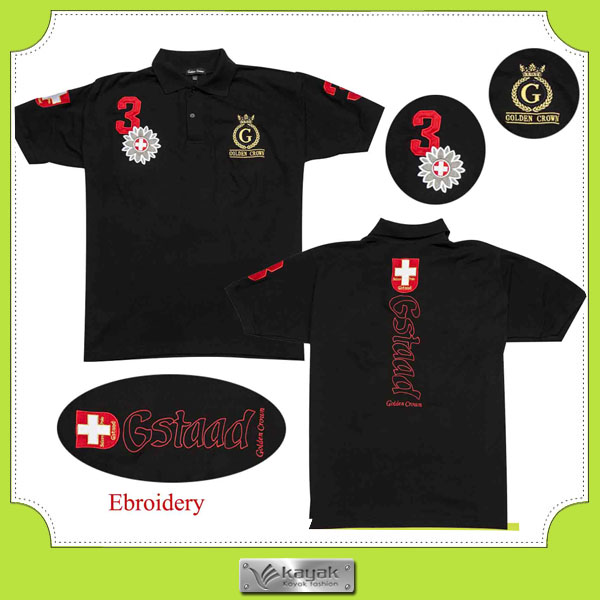 Custom men 39 s slim fit blank polo t shirt with own for It s all custom t shirts and embroidery atlanta