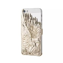 New arrival Angel Wing 3D Embossed electroplating case for iphone 6 plus