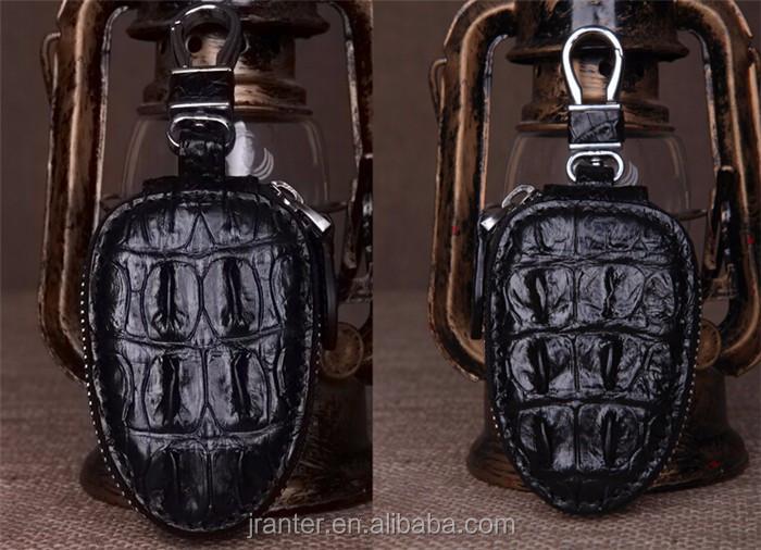 Top Luxury Crocodile Leather Case Car Key  Holder Wallet,High-end Leather bmw key case_7