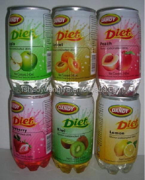 Gazeuses boisson fraîche PET bouteille boisson OEM série mélange avec toutes sortes de favorable fruits