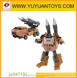 Hot new product for 2015 Cool design 5 in 1 car transform robot toy with metal