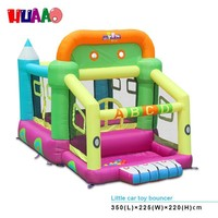 2015 fishion cars bouncy castle jump toys for kids