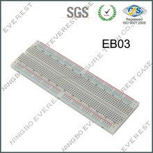 "Solderless EVEREST Breadboard with Bus Strip, 830 Tie-Point, 6-1/2"" Length x 2-1/8"" Width Strip"