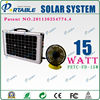 Portable Solar Power System With Phone Charger 15W for outdoors