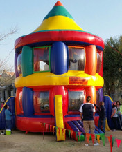 top selling inflatable gladiator rocket /inflatable sport game