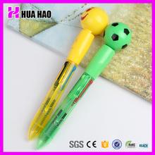 logo print custom cute cartoon ball pen school use cartoon plastic pen