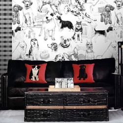 Art home decor self adhesive wallpaper for home with sex dog theme for rooms