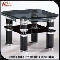 2015 hot sell design bend glass centre table