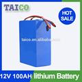 100AH 12V baterías de iones de litio de alta capacidad con BMS