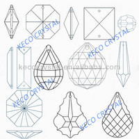 K9 quality crystal chandelier parts, keco crystal is the manufacturer of all types chandelier crystals & glass beads