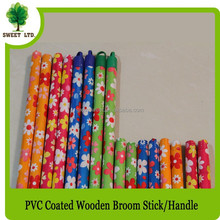 broom material wooden stick mop handle with PVC coated