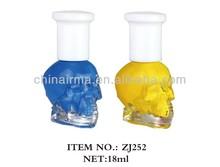 skull head nail polish