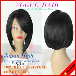 2015 New Synthetic silky straight Wave Heat Resistant Straight Bob Lace Front Wigs Glueless Wig,Short Wig For Black Woman