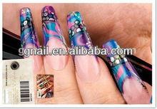 200 ABS clear long French arificial False Nail Art Tips
