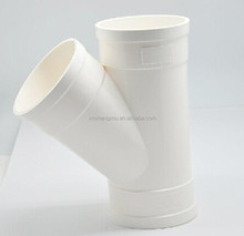 PVC plastic pipe fitting Y tee for water sewage