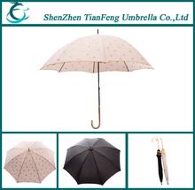 J plastic handle straight promotional umbrella