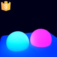 D16*H12 Colourful half led magic glowing light ball for party wedding garden decorations