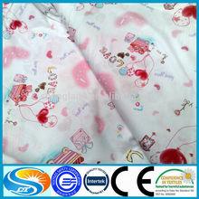 100% algodão estampado lençol tecido de lençol