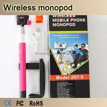 Hot-selling wireless bluetooth handheld monopod selfie stick for smartphone