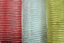 metallic raised stripe organza fabric ribbon fabric home textile fabric