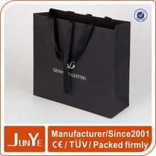 Jewelry brand name wholesale black paper shopping bags