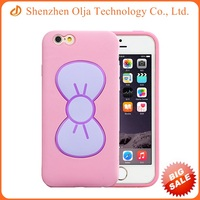 Wholesale price cheap cell phone jelly case for iPhone 4 with rosette stand